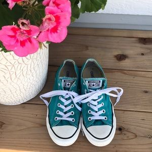 Converse All Star Turquoise Low Top Sneakers